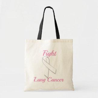 Bolsa Tote Câncer pulmonar da luta - sacola