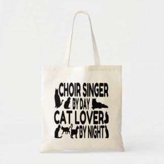 Bolsa Tote Cantor do coro do amante do gato