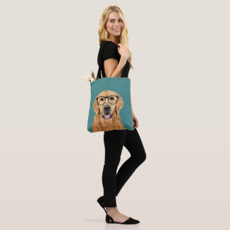Bolsa Tote Cão bonito do golden retriever para amantes do cão