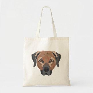 Bolsa Tote Cão Brown Labrador da ilustração