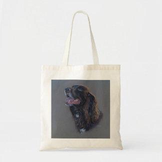 Bolsa Tote Cão de Engish cocker spaniel. Pintura das belas