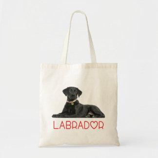 Bolsa Tote Cão de filhote de cachorro preto de labrador