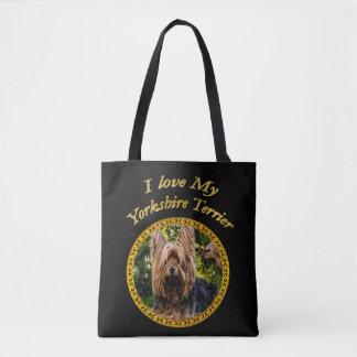 Bolsa Tote Cão pequeno do yorkshire terrier doce