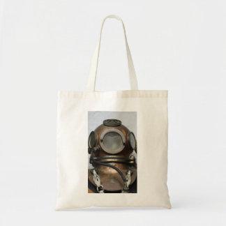 Bolsa Tote Capacete subaquático do mergulho do metal antigo