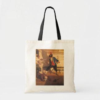 Bolsa Tote Capitão do pirata do vintage, luta da espada por