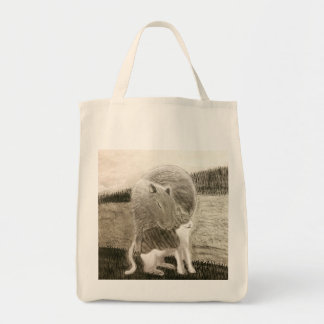 Bolsa Tote Capybara e o gato