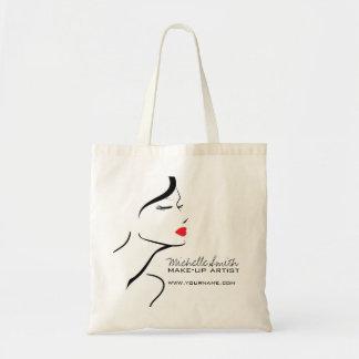 Bolsa Tote Cara da mulher do ícone da composição nos lábios