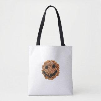 Bolsa Tote Cara de sorriso bonito da fruta e do cereal