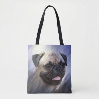 Bolsa Tote Cara do Pug