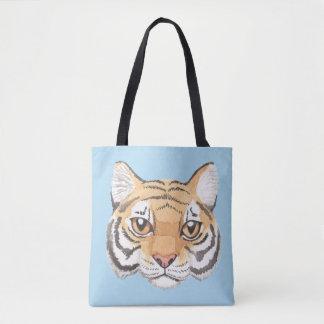 Bolsa Tote Cara do tigre