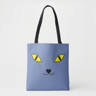 Bolsa Tote Cara feliz do gato