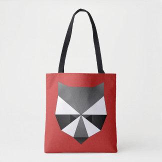 Bolsa Tote Cara geométrica do guaxinim