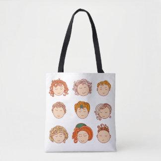 Bolsa Tote Caras bonitos diferentes