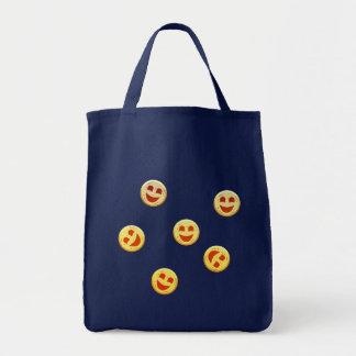 Bolsa Tote caras felizes dos biscoitos
