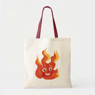 Bolsa Tote Caráter ardente feliz da chama do fogo