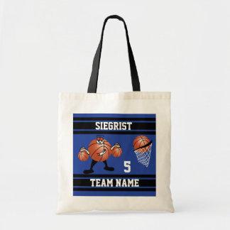 Bolsa Tote Caráter desportivo do basquetebol dos desenhos