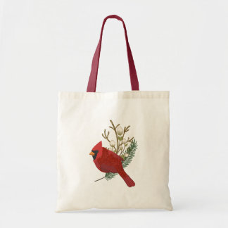 Bolsa Tote Cardeal vermelho no ramo
