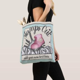 Bolsa Tote Carimbe para fora o sexismo Workboot cor-de-rosa
