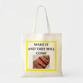 Bolsa Tote carne assada