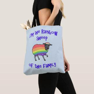 Bolsa Tote Carneiros do arco-íris da família