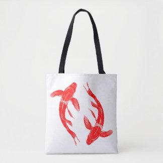 Bolsa Tote Carpa vermelha dos peixes de Koi
