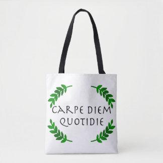 Bolsa Tote Carpe Diem Quotidie - apreenda o dia, cada dia