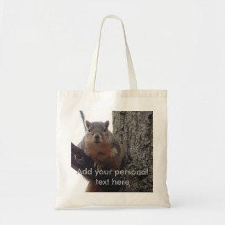 Bolsa Tote Carregar todo do mantimento da sacola do esquilo