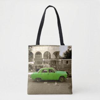 Bolsa Tote Carro verde velho uruguaio