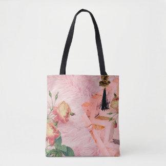 Bolsa Tote Carryall cor-de-rosa da indicação da Falso-Pele &