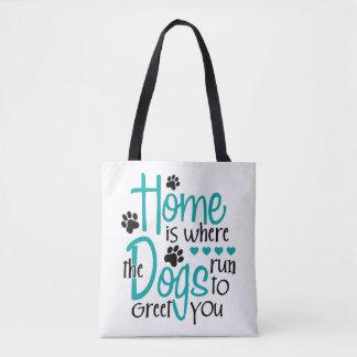 Bolsa Tote Casa com cão
