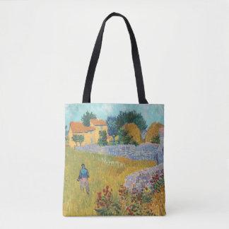 Bolsa Tote Casa da quinta restaurada em Provence por Van Gogh
