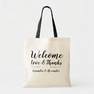 Bolsa Tote Casamento bem-vindo do saco do favor do presente