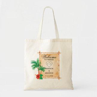 Bolsa Tote Casamento de bambu personalizado das palmas