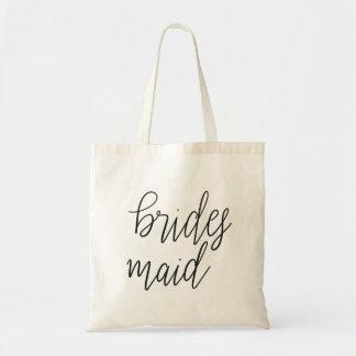 Bolsa Tote Casamento elegante simples da tipografia da dama