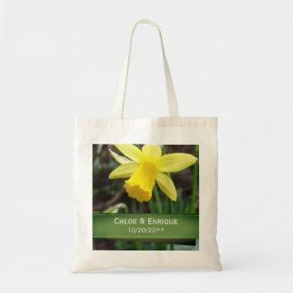 Bolsa Tote Casamento personalizado do foco Daffodil macio