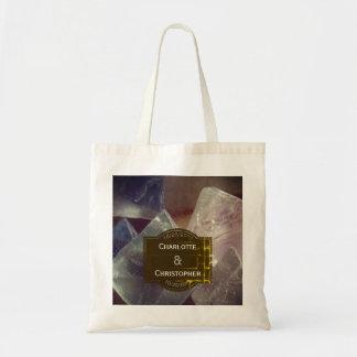 Bolsa Tote Casamento personalizado pedra preciosa da fluorite