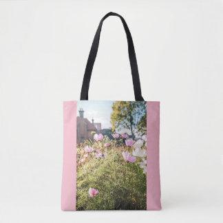 Bolsa Tote Casas e flores