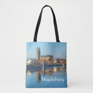 Bolsa Tote Catedral de Magdeburgo com rio Elbe 1.2.T