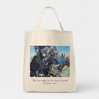 Bolsa Tote cavaleiros medievais que jousting na arte