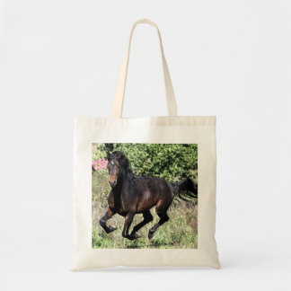 Bolsa Tote Cavalo de galope da castanha