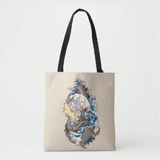 Bolsa Tote cavalo de mar mitológico