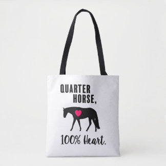 Bolsa Tote Cavalo de um quarto, 100% coração - prazer