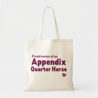 Bolsa Tote Cavalo de um quarto do apêndice