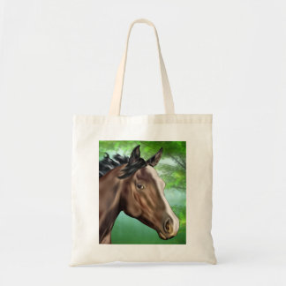 Bolsa Tote Cavalo do puro-sangue da baía do selo