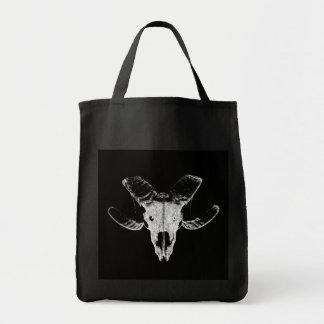 Bolsa Tote Caveira da ovelha em saco preto