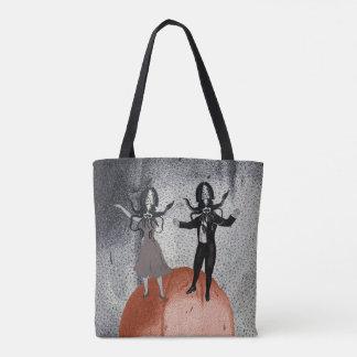 Bolsa Tote Celebração da dança dos aliens