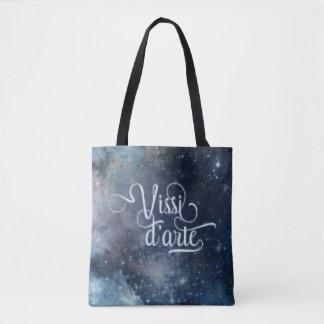 Bolsa Tote Celestial azul do d'arte de Vissi toda sobre -