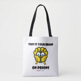 Bolsa Tote Cérebro em prião