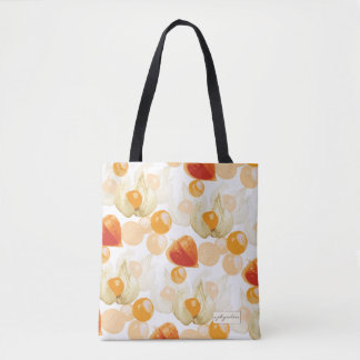 Bolsa Tote Cerejas de inverno do Physalis |