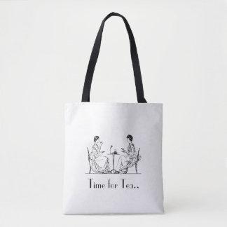Bolsa Tote Chá alto do vintage toda sobre - imprima a sacola
